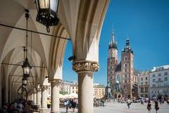 圣玛丽的大教堂, Krakà ³ w,波兰,欧洲 免版税图库摄影