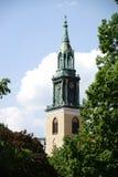 圣玛丽的教会塔  免版税库存图片