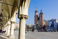 圣玛丽的教会,克拉科夫,波兰 库存照片