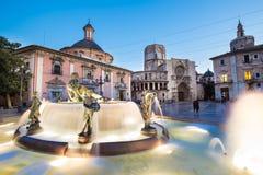 圣玛丽的,巴伦西亚,西班牙正方形  免版税库存照片