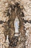 圣玛丽的洞在Obertilliach,奥地利 库存照片