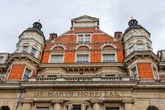 圣玛丽的医院,伦敦,英国 库存照片