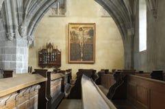 圣玛丽路德教会的大教堂,内部 图库摄影