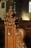 圣玛丽,内部细节路德教会的大教堂  库存照片