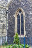 圣玛丽12世纪罗马尼亚样式教会维尔京,多弗,英国 免版税库存图片