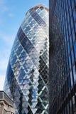 30圣玛丽轴大厦或嫩黄瓜在伦敦 库存图片