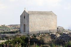 圣玛丽从良的妓女教堂在Dingli,马耳他 免版税库存图片