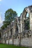 圣玛丽` s修道院,约克 库存图片