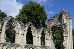 圣玛丽` s修道院,约克 免版税库存照片