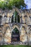 圣玛丽` s修道院,约克 免版税库存图片
