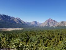圣玛丽& x27; s在冰川国家公园 免版税库存照片