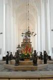 圣玛丽` s大教堂内部  库存照片