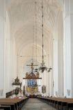 圣玛丽` s大教堂内部  免版税库存图片