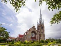圣玛丽` s大教堂在仰光,缅甸 免版税库存图片