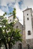 圣玛丽` s教会在卑尔根 12世纪 卑尔根英国国教的教堂 免版税库存照片