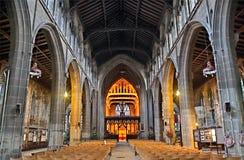圣玛丽` s教会,在诺丁汉,英国 库存照片