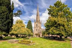 圣玛丽` s教会,罗斯在Y形支架, Herefordshire 库存照片