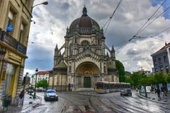 圣玛丽` s皇家教会-布鲁塞尔,比利时 库存照片