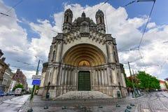 圣玛丽` s皇家教会-布鲁塞尔,比利时 库存图片