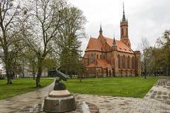 圣玛丽` s肩衣Druskininka教会的大厦  免版税库存图片