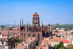 圣玛丽Churchl在格但斯克,波兰 免版税库存图片