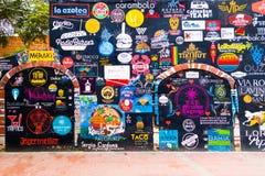 圣玛尔塔哥伦比亚- 2017年10月19日:街道街道画在圣玛尔塔,在北的普遍的加勒比目的地 免版税图库摄影