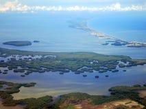 圣玛尔塔kust (哥伦比亚) vanuit het de lucht;圣玛尔塔coa 免版税库存照片