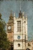 圣玛格丽特高耸和大本钟-葡萄酒 免版税库存图片