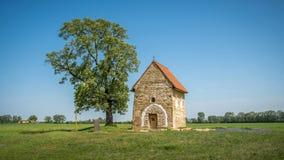 圣玛格丽特Antioch, Kopcany,斯洛伐克教会  免版税图库摄影