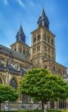 圣瑟法斯,马斯特里赫特,荷兰大教堂  图库摄影