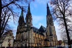 圣瓦茨拉夫大教堂在Olomouc 免版税库存图片