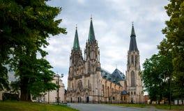 圣瓦茨拉夫, Olomouc,捷克大教堂  免版税库存图片