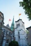 圣皮埃尔大教堂在日内瓦,瑞士 免版税图库摄影