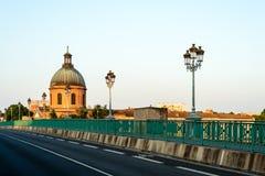 圣皮埃尔桥梁在图卢兹,法国 库存图片