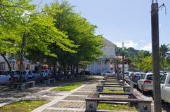 圣皮埃尔镇,马提尼克岛海岛,法语,小安的列斯群岛 免版税库存照片