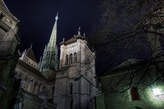 圣皮尔的大教堂,吉恩威,瑞士 免版税库存图片