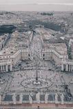 """圣皮特圣徒・彼得""""s正方形如从上面被看见,黑白版本 免版税库存图片"""