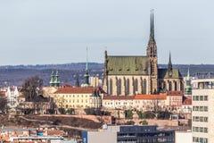 圣皮特圣徒・彼得和保罗布尔诺,捷克大教堂  图库摄影