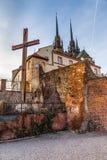圣皮特圣徒・彼得和保罗布尔诺,捷克大教堂  库存照片