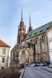 圣皮特圣徒・彼得和保罗布尔诺,捷克大教堂  免版税库存图片