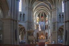 圣皮特圣徒・彼得和保罗教会内部在伯尔尼 库存图片