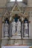 圣皮特圣徒・彼得和保罗法坛在萨格勒布大教堂里 免版税库存图片