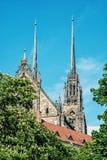 圣皮特圣徒・彼得和保罗著名大教堂在布尔诺,摩拉维亚,捷克r 免版税库存照片