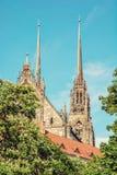 圣皮特圣徒・彼得和保罗著名大教堂在布尔诺,摩拉维亚 库存照片