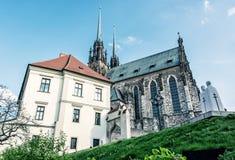 圣皮特圣徒・彼得和保罗,布尔诺著名大教堂  免版税库存照片