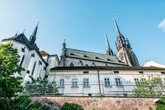 圣皮特圣徒・彼得和保罗,布尔诺,摩拉维亚大教堂,捷克语 库存图片