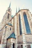 圣皮特圣徒・彼得和保罗,布尔诺,摩拉维亚大教堂,捷克语 图库摄影