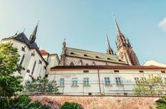 圣皮特圣徒・彼得和保罗,布尔诺,摩拉维亚大教堂,捷克语 库存照片