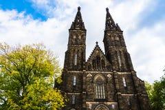 圣皮特圣徒・彼得和圣保罗大教堂在布拉格,捷克 库存图片