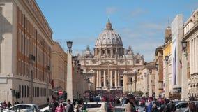 圣皮特圣徒・彼得在梵蒂冈的` s大教堂 股票录像